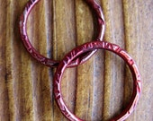 Your Choice of Color - 18mm Hammered Soldered Patina Links  - 1 pair