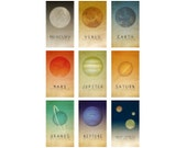 Space Magnets, 9 Fridge Magnets with Planets in our Solar System, Astronomy Gift for Student or Geeky Office Decor
