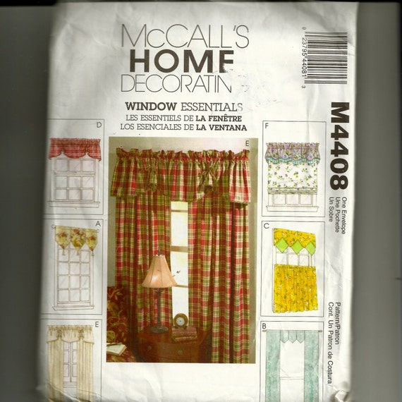 McCall's Curtains Pattern M4408