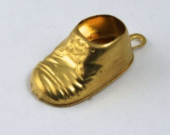 19mm Raw Brass Baby Shoe (2 Pieces) #1326
