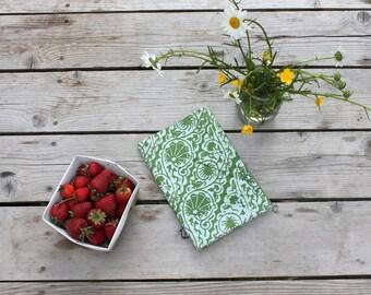 spinach green tea towel