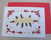 Kathie McCurdy Botanical Art Christmas Holiday Greeting Cards - Package of 12