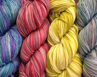 Hand dyed sock yarn club