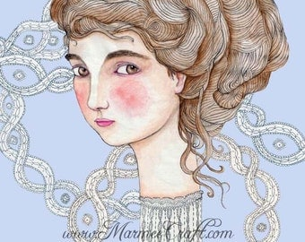 "MarmeeCraft art print, ""Lily and the Lace Web"""