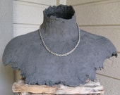 OFF With Their HEADS! - MTD Papier Paper Mache Jewelry Display Bust - Black - Open Neck