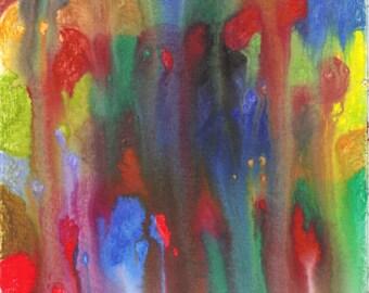 Puzzle Abstract Watercolor Original