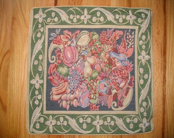 Pillow Cover Italian Tapestry HARVEST GREEN 20x20 decorative pillow