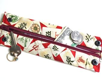 Secret Stash Wrist  Money Cuff- Chinese Cards-  Hide your cash, jewels, key,health info  in a hidden zipper