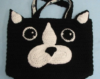 Boston Terrier Tote Crochet Pattern In USA Terms, PDF, Digital Download