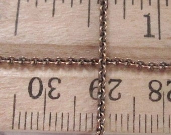 8 ft.  raw brass cable chain 1mm wide - f4008
