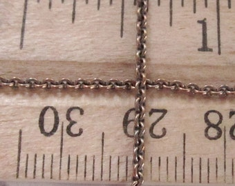15 ft. raw brass cable chain 1mm wide - f4008