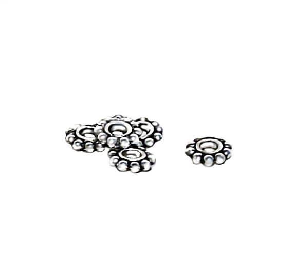 Bali Style Large Hole Daisy Spacer Beads