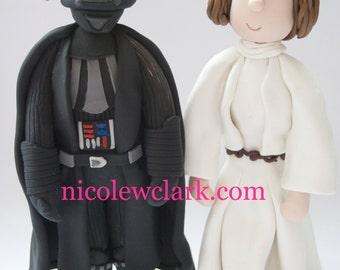 Custom SuperHero & Cartoon Wedding Cake toppers- Star Wars, Superman, Hello Kitty, Iron Man, WoW, Marvel, Dart Vadar, Mr and Mrs Cake topper