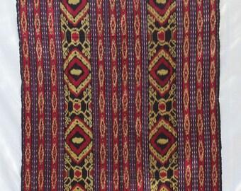 BIG SALE /#Balinese Yellow, Blue and Red# Ikat /#Wall Decor/# Art /#Hand Made# Textile /#Home Decor/#Boho Chic/#Bohemian/#Beach Decor