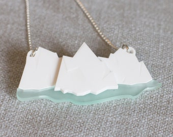 Iceberg necklace - geometric necklace - iceberg jewellery - geometric jewellery - ice necklace - frozen necklace - iceberg pendant