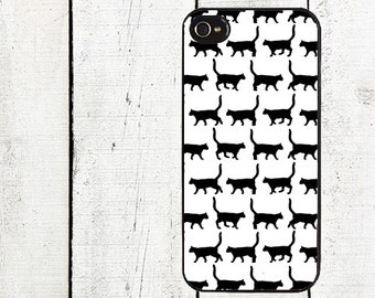 Black Cat Phone Case for iPhone 4 4s 5 5s 5c SE 6 6s 7  6 6s 7 Plus Galaxy s4 s5 s6 s7 Edge