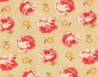 SALE - Honeysweet - Brocade in Biscuit: sku 20212-18 cotton quilting fabric by Fig Tree and Co. for Moda Fabrics - 1 yard