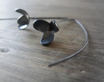 Three Petalled-Flower Earrings