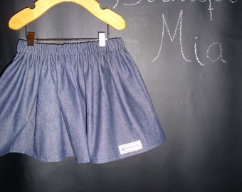 BUY 2 get 1 FREE - Skirt - Denim - Pick the size Newborn up to 14 Years by Boutique Mia