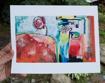 Dissolve the Difference - 6 x 10in giclee reproduction of original fine art abstract painting