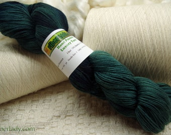 Hand painted Mousoucot Bamboo/Cotton yarn, 4 oz, Dark Teal