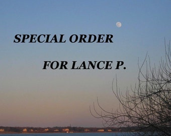 Special Order for Lance P.