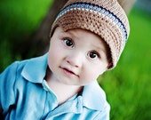 Baby Boy Hat, Infant Newsboy, Baby Boy Coming Home Outfit, Newborn Hat, Crochet Hat, Baby Gift, Shower Gift, Photo Prop