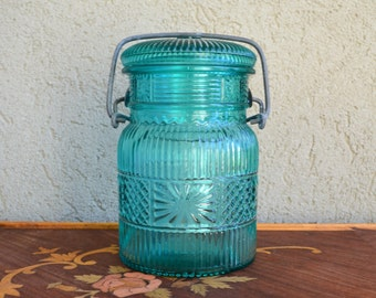 Blue Bail Jar by Avon