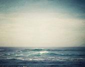 "Nautical Decor, Ocean Art, Beach Decor, Landscape Photography, Large Art, Ocean Wave Nature, Coastal Decor, Blue Beach Art ""Cresting"""