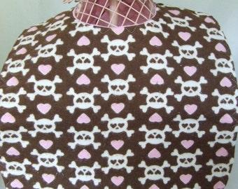 Hearts and Skulls Baby Toddler Bib
