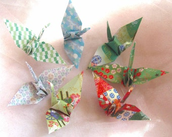 7  Wedding Table Party Favors Christmas Decoration Origami Peace Cranes Green Japanese Traditional Paper Anniversary Table Decorations