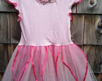 Girls' tutu dress pink size 2
