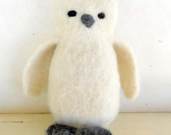 Eco Kids Toy - Snowy Owl -  Natural and Eco Friendly - Heirloom Treasure from Woolies on Etsy