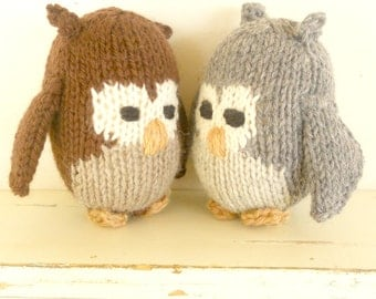 Eco Kids Toy - Owl -  Natural and Eco Friendly - Heirloom Treasure from Woolies on Etsy