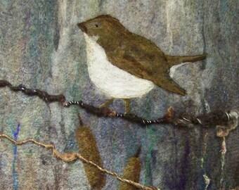 No.762 On a Limb Again - Needlefelt Art XLg - Wool Painting
