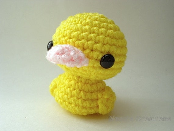 Duckling Amigurumi - Yellow Duck Doll with Keychain or Ornament Options
