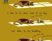 Dog Therapy Art Print