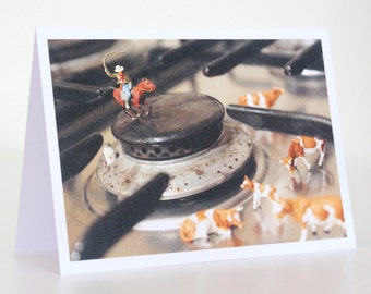 039 - out on the range - greeting card