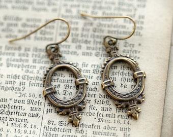 Brass Drop Earrings 3