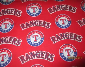 Texas Rangers Mlb Al West Team Logo Cotton Fabric Sold By