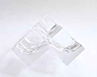 Daum Crystal Sculpture Geometric Cube ROC17