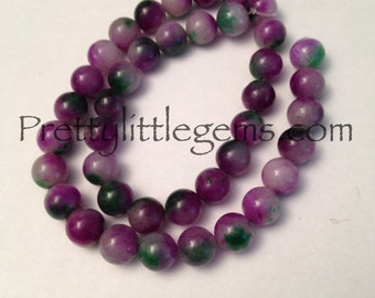 Multi Color Jade 10mm Round Beads Strand