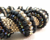 Queen of the Night Cellini Spiral Beadwoven Bracelet