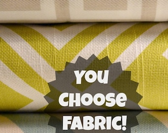 Add Personalization - Designer Dog Bed Cover - Pet Bed Duvet Covers - Stuff with Pillows - YOU Choose Fabric