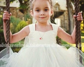 Flower Girl Dress Ivory White 6. 7. 8.