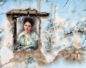 Printable Art Instant Download Vintage Women Ruins Instant Digital Download Commercial Use Floral Digital Paper Digital Graphics