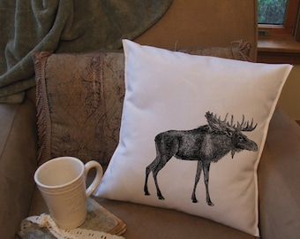 moose throw pillow cover
