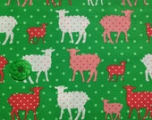 1 Yard - Organic Cotton - Modern Whimsy by Laurie Wisbrun for Robert Kaufman in Green/Pink
