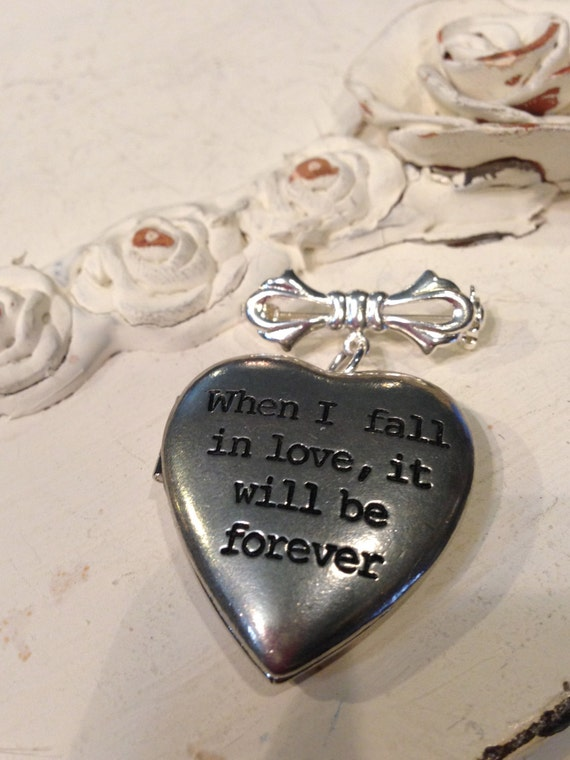 Bridal Bouquet Locket Charm : Bridal bouquet charm locket jane austen when i fall in love