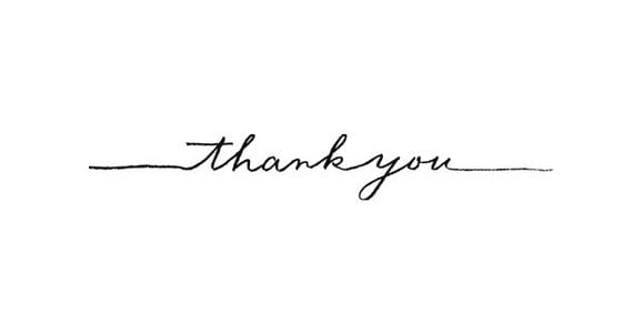 Clearance fancy calligraphy thank you rubber stamp Thank you in calligraphy writing
